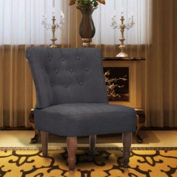 vidaXL Franse stoel stof grijs
