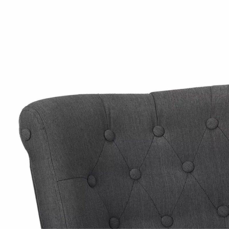 Franse stoelen 2 st stof grijs