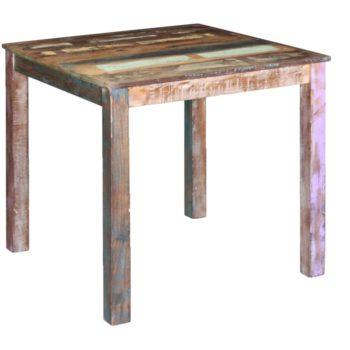 vidaXL Eettafel 80x82x76 cm massief gerecycled hout