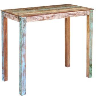 vidaXL Bartafel 115x60x107 cm massief gerecycled hout