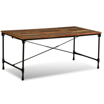 vidaXL Eettafel 180 cm massief gerecycled hout