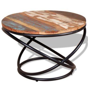 vidaXL Salontafel 60x60x40 cm massief gerecycled hout