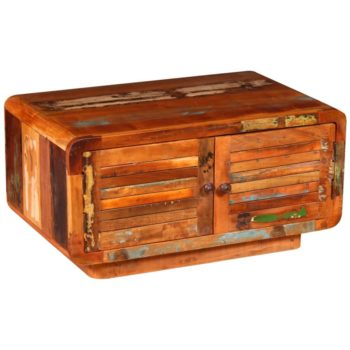 vidaXL Salontafel 80x50x40 cm massief gerecycled hout