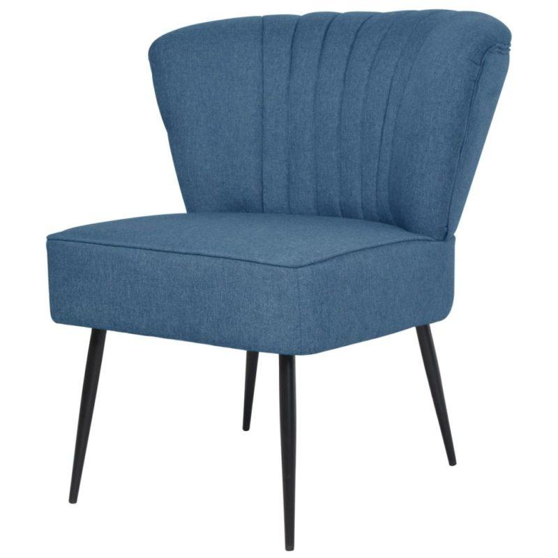 vidaXL Cocktailstoel stof blauw