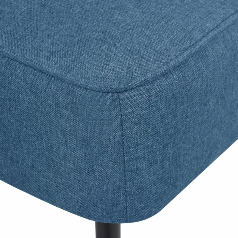 Cocktailstoel stof blauw