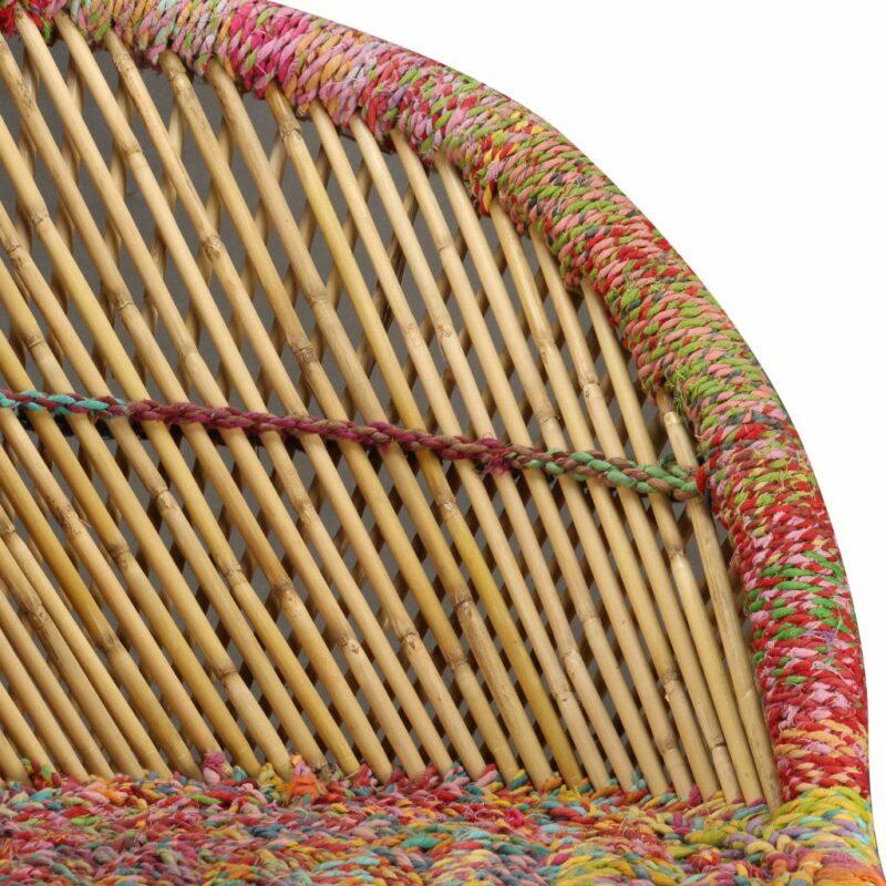 Stoel met chindi details bamboe