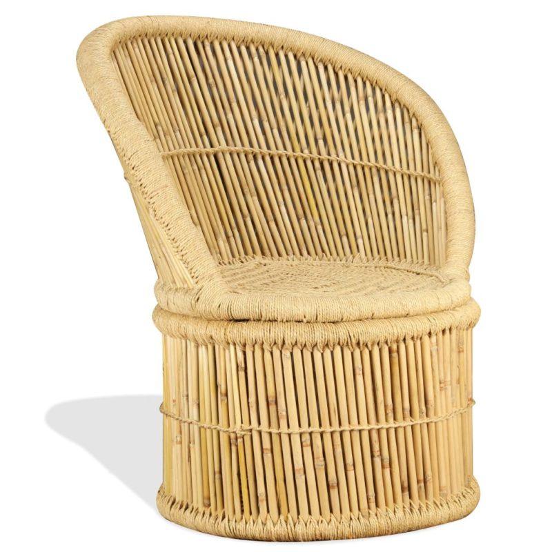 vidaXL Stoel bamboe