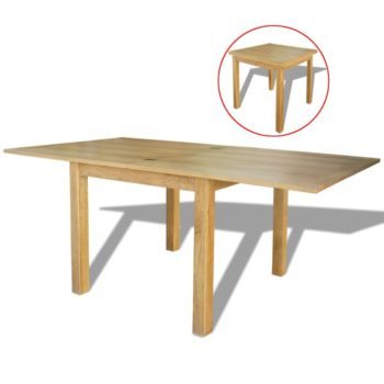 vidaXL Uitschuifbare tafel eikenhout 170x85x75 cm