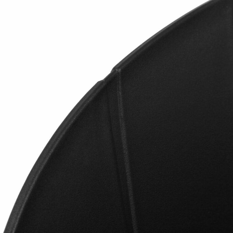 Eetkamerstoelen 2 st kunststof zwart