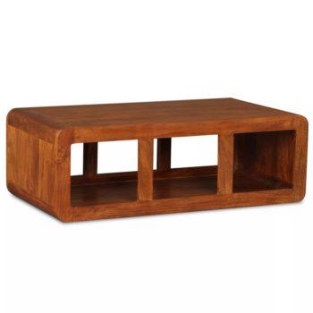 vidaXL Salontafel 90x50x30 cm massief hout en sheesham afwerking