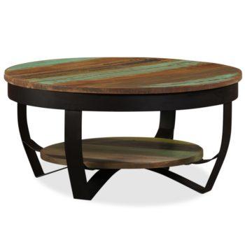 vidaXl Salontafel 65×32 cm massief gerecycled hout