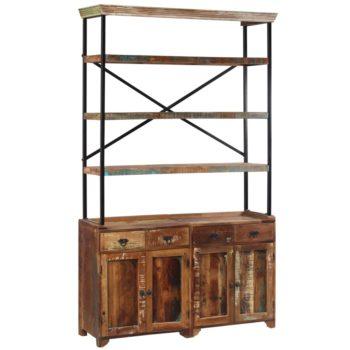 vidaXL Dressoir met schappen 120x35x200 cm massief gerecycled hout