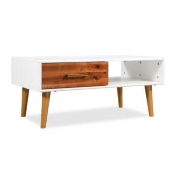 vidaXL Salontafel 90x50x40 cm massief acaciahout