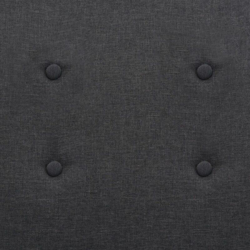 Fauteuil staal en stof donkergrijs