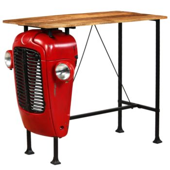 vidaXL Bartafel tractor 60x120x107 cm massief mangohout rood
