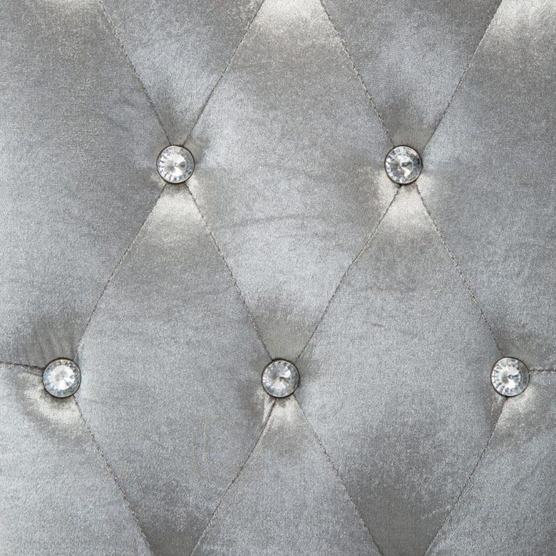 Eetkamerstoelen 2 st fluweel zilverkleurig