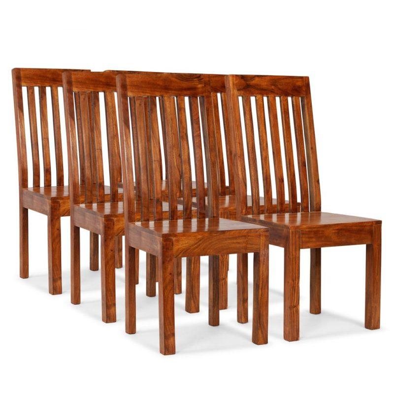 vidaXL Eetkamerstoelen modern hout met sheesham afwerking 6 st