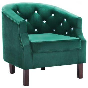 vidaXL Fauteuil fluweel groen