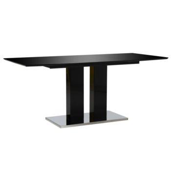 vidaXL Eettafel 180x90x76 cm MDF hoogglans zwart