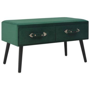 vidaXL Salontafel 80x40x46 cm fluweel groen