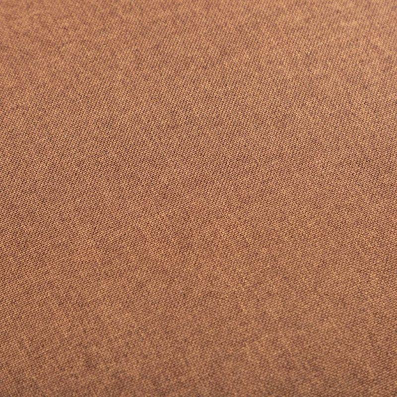 vidaXL 2-delige Fauteuilset met hocker stof bruin