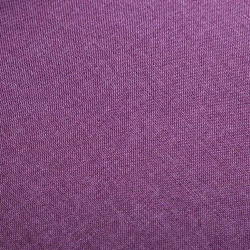 2-delige Fauteuilset met hocker stof paars