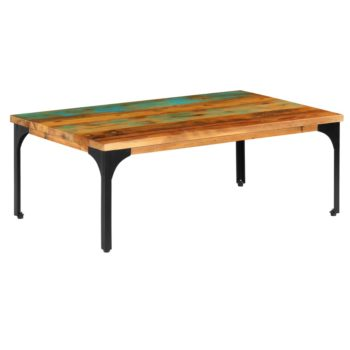 vidaXL Salontafel 100x60x35 cm massief gerecycled hout