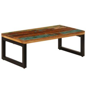 vidaXL Salontafel 100x50x35 cm massief gerecycled hout en staal
