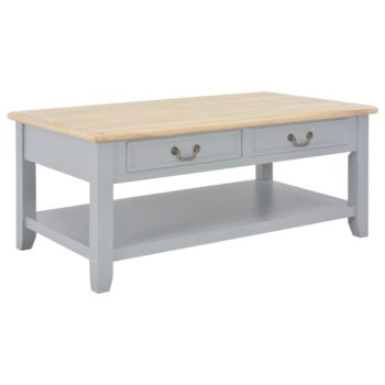 vidaXL Salontafel 100x55x40 cm hout grijs