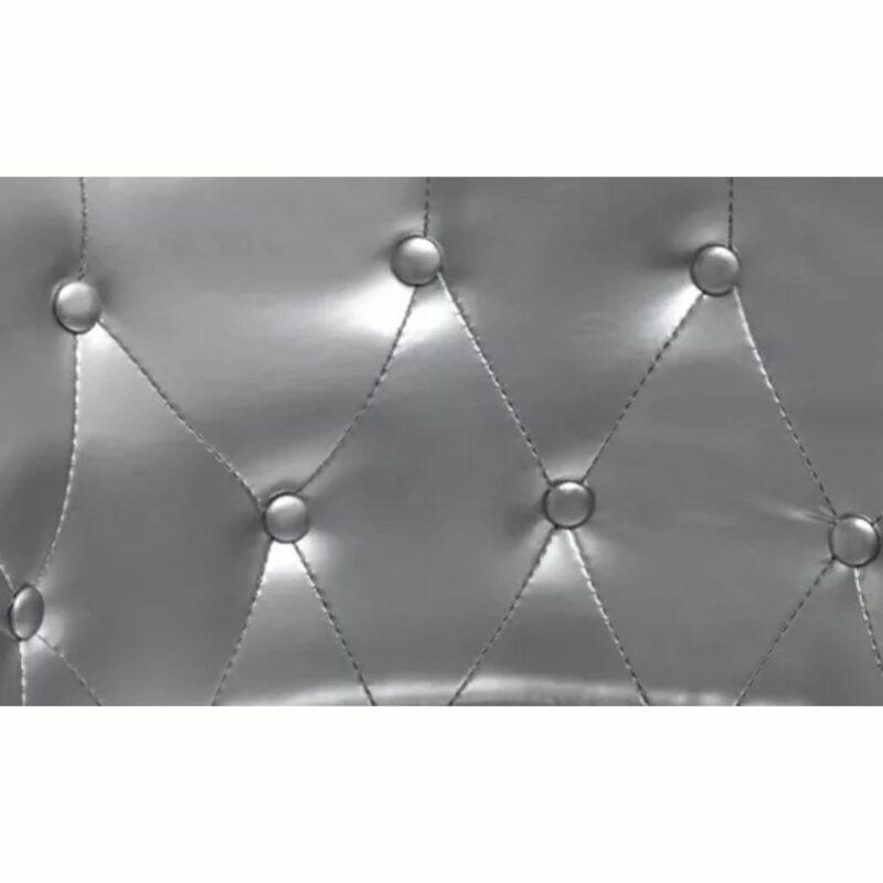 Kuipstoel kunstleer zilver