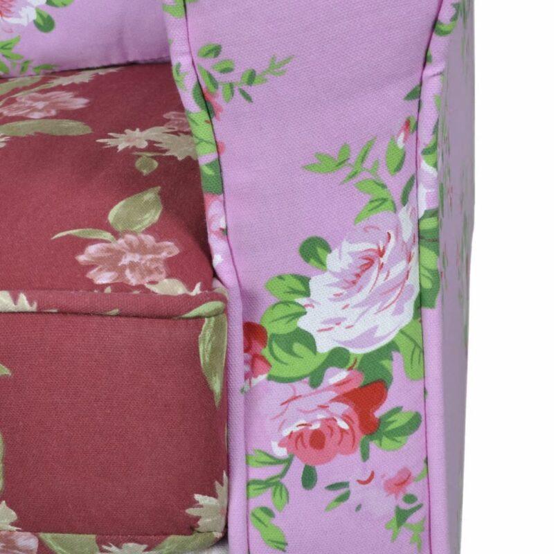 Fauteuil met patchwork ontwerp stof