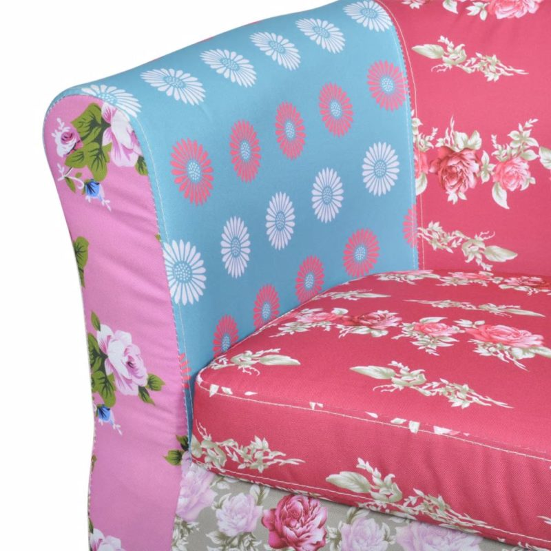 vidaXL Fauteuil met patchwork Relax stof