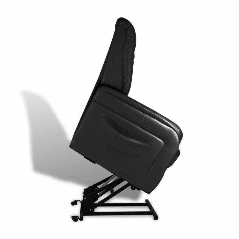 Televisiefauteuil kunstleer zwart