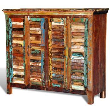 vidaXL Kast met 4 deuren massief gerecycled hout