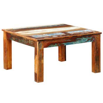 vidaXL Salontafel vierkant gerecycled hout