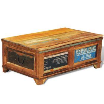 vidaXL Salontafel met opslagruimte vintage stijl gerecycled hout