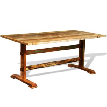 vidaXL Eettafel vintage stijl gerecycled hout
