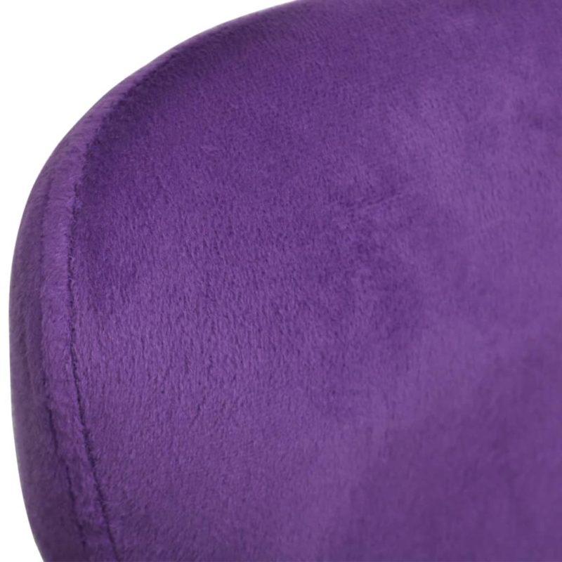 vidaXL Draaistoel eivormig met kussen klein fluweel paars