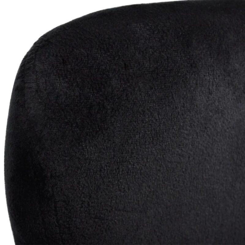 Fauteuil eivormig zwart