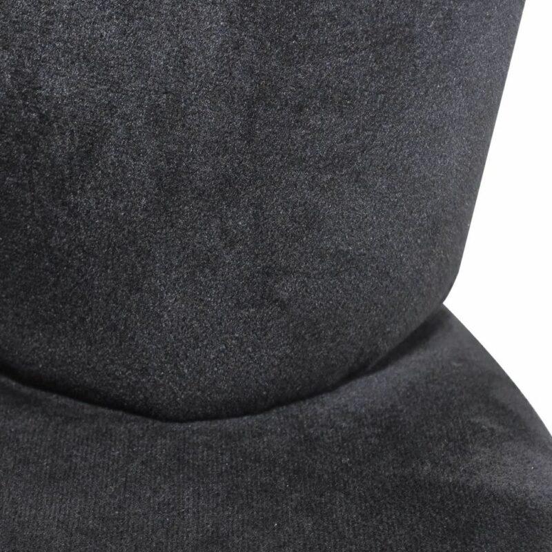 Stoel handvormig fluweel zwart
