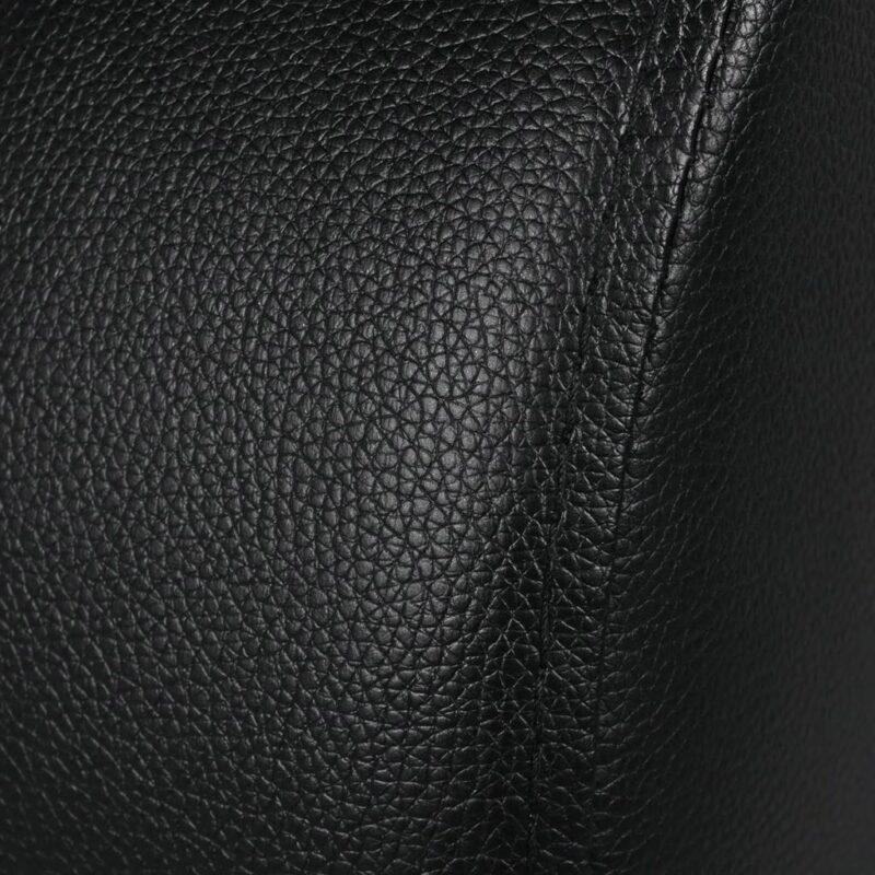 Dubbele relaxfauteuil met middenleuning kunstleer zwart