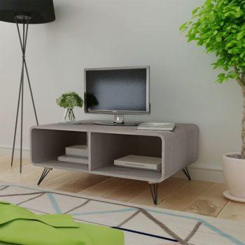 vidaXL Salontafel 90×55,5×38,5 cm massief paulowniahout grijs