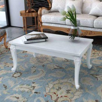 vidaXL Salontafel 100 x 60 x 42 cm hoogglans wit