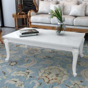 vidaXL Salontafel 115x65x42 cm hoogglans wit