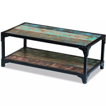 vidaXL Salontafel massief gerecycled hout