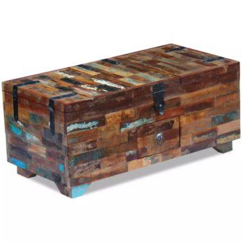 vidaXL Salontafel kistvormig 80x40x35 cm massief gerecycled hout