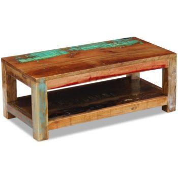 vidaXL Salontafel 90x45x35 cm massief gerecycled hout
