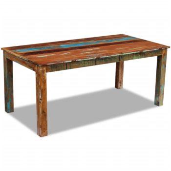vidaXL Eettafel 180x90x76 cm massief gerecycled hout
