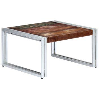 vidaXL Salontafel 60x60x35 cm massief gerecycled hout