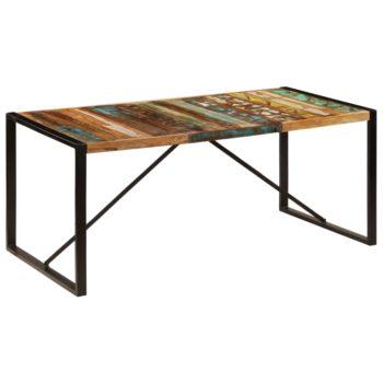 vidaXL Eettafel 180x90x75 cm massief gerecycled hout